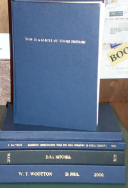 same day thesis binding manchester Thesis binding hardback binding other services same day hardback binding with gold or silver also available in royal blue and 'university of manchester.